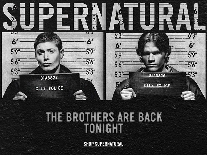 SHOP SUPERNATURAL