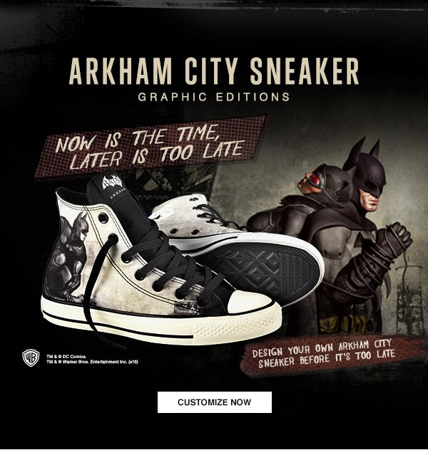 ARKHAM CITY SNEAKER GRAPHIC EDITIONS