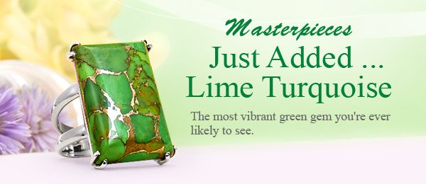 Masterpieces Just Added ... Lime Turquoise