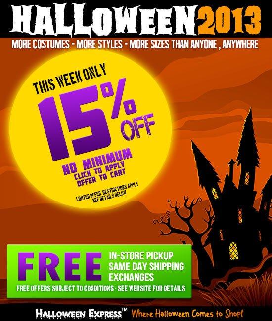 Halloween 2013 Sale
