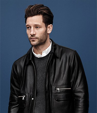 The Leather Patch Pocket Bomber
