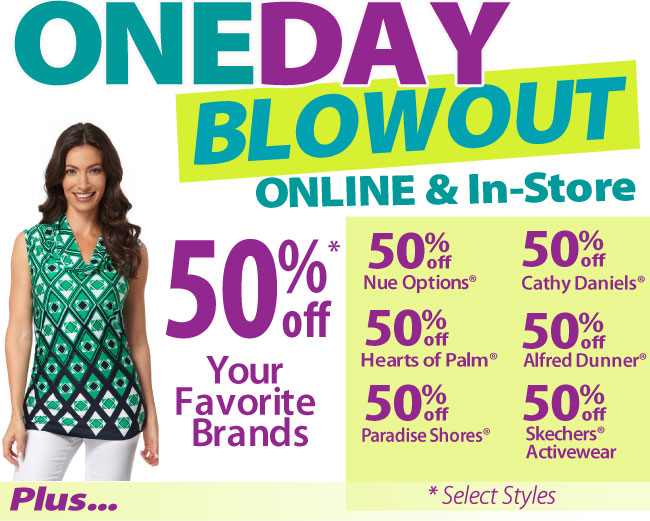 One Day Blowout Sale