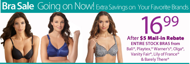 Bra Sale Going on Now