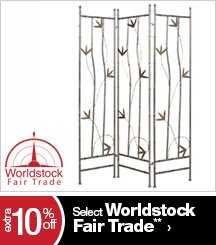 Extra 10% off Select Worldstock Fair Trade**