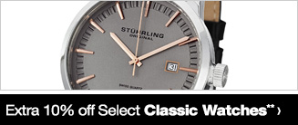 Extra 10% off Select Classic Watches**