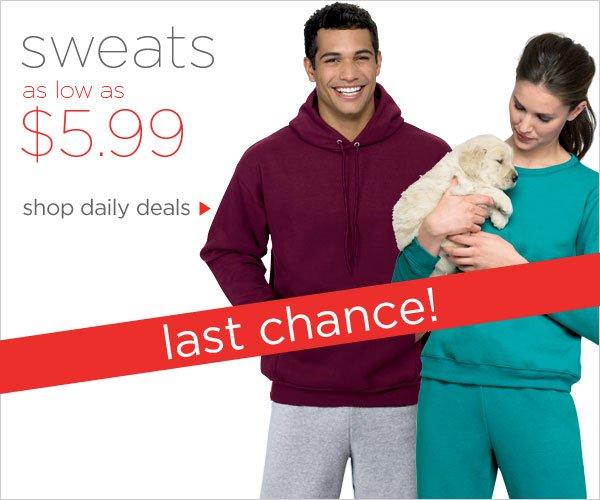 Sweats as low as $5.99