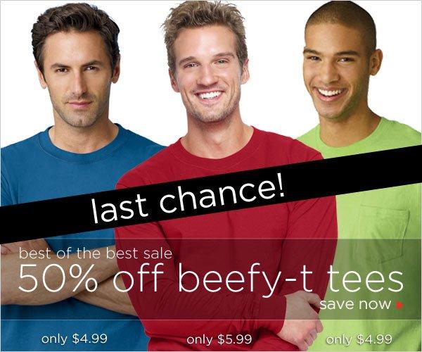 50% off Beefy-T Tees