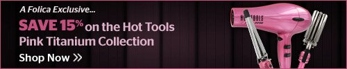 Save 15% on the Hot Tools Pink Titanium Collection
