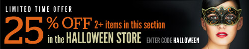 25% off 2 or more items from the Halloween Shop