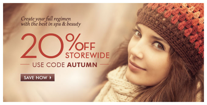 20% off Storewide use code AUTUMN — Save Now »
