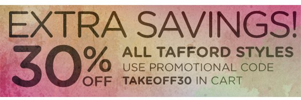 30% Off All Tafford Styles - Shop Now