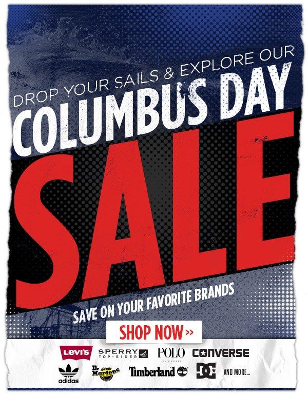 Sales Ahoy! Columbus Day Sale Ahead.