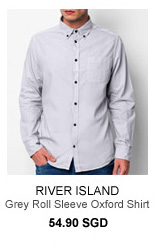 River Island Grey Oxford Shirt