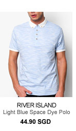 River Island Light Blue Polo Tee