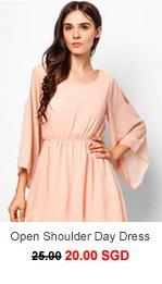 UNLABELLED Open Shoulder Day Dress