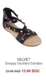 VELVET Andi Strappy Studded Sandals