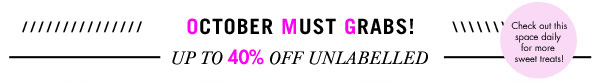 Up to 40% off Unlabelled