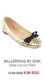 BALLERINAS BY S:W:K Zaila Cut-out Flats