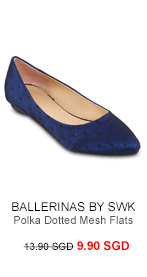 BALLERINAS BY S:W:K Zoey Polka Dotted Mesh Flats