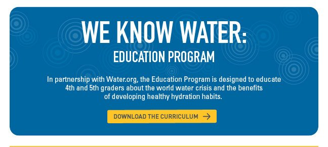 We Know Water: Education Program