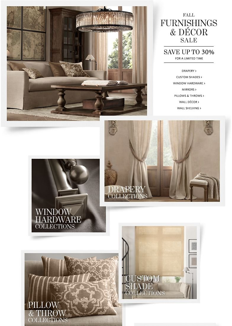Fall Furnishings and Decor Sale - Save up to 30%.