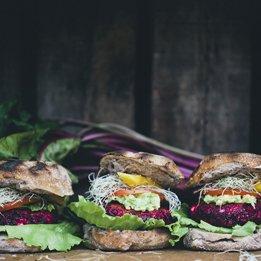 Beet Feta Burgers