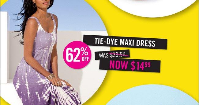 Tie- Dye Maxi Dress $39.99 now $14.99