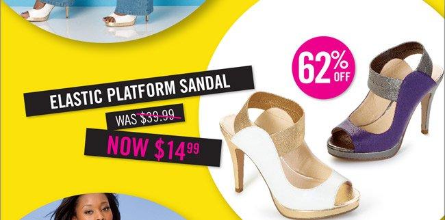 Elastic Platform Sandal $39.99 now $14.99