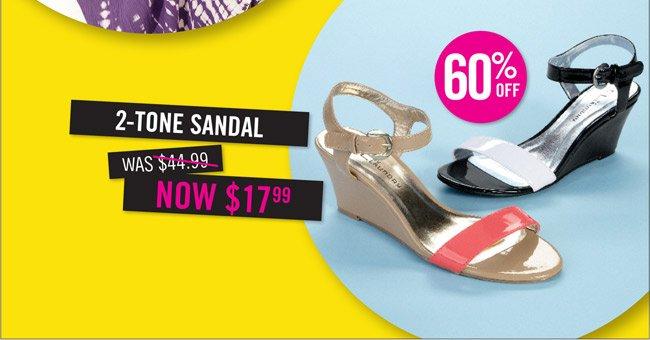 2 Tone Sandal $44.99 now $17.99