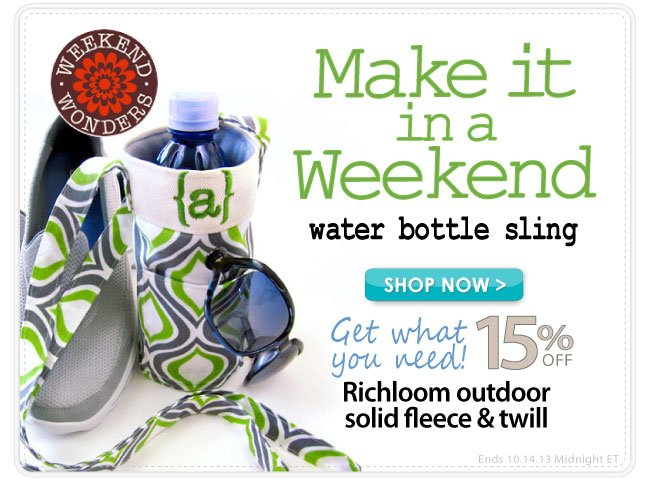 Save 15% and Make this wATER bOTTLE sLING