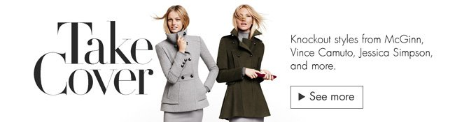 Check out the latest fall coats for women, including knockout styles from McGinn, Vince Camuto, Jessica Simpson, and more.