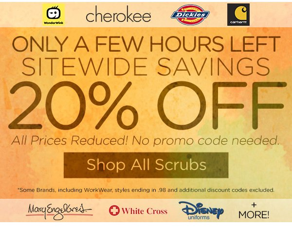 20% OFF Sitewide! - Shop All Scrubs