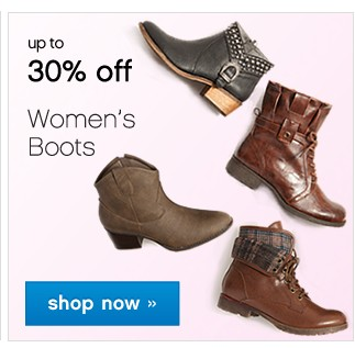 Up to 30% off. Women's Boots. Shop now.