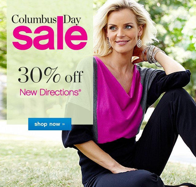 Columbus Day Sale. 30% off ND New Directions®. Shop now.