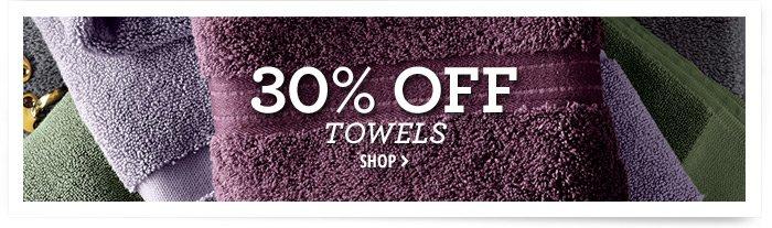 30% off Towels