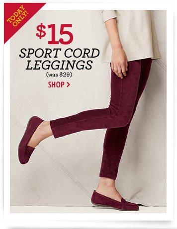Sport Cord Leggings