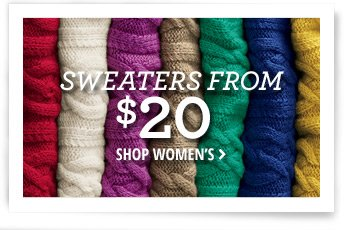 Sweaters From $20