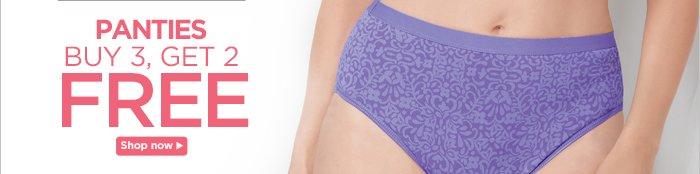 Panties Buy 3, Get 2 Free