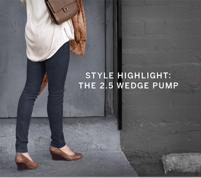 Style Highlight: The 2.5 Wedge Pump
