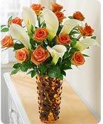 Orange Rose & Calla Lily