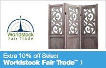 Extra 10% off Select Worldstock Fair Trade**