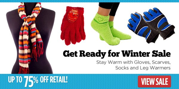 Get Ready for Winter: Gloves, Scarves, Socks and Leg Warmers