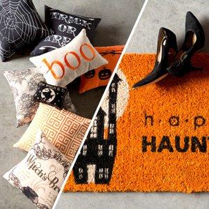 Ready for Halloween: Throw Pillows & Doormats