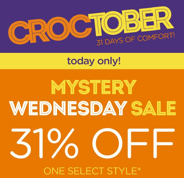 Croctober 31 Days of Comfort! today only!