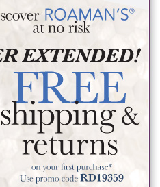 Offer Extended! Free shipping and returns on your first purchase*. Use promo code RD19359