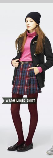 WOMEN'S WARM LINED SKIRT