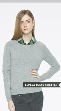WOMEN'S ALPACA BLEND SWEATER
