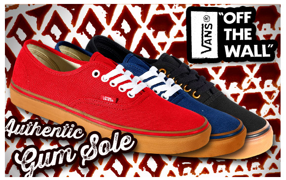 Vans Off The Wall, Authentic Gum Sole