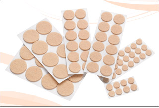 72-Piece Self-Stick Pad Protectors