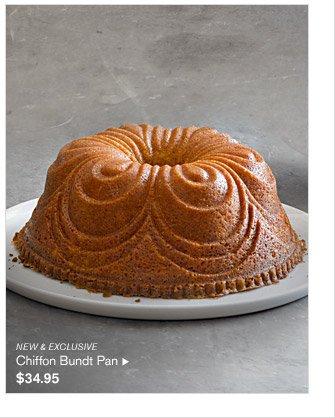 NEW & EXCLUSIVE -- Chiffon Bundt Pan, $34.95